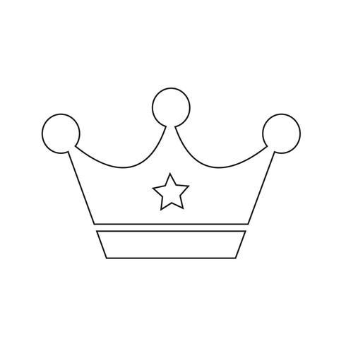 Illustrazione vettoriale di corona icona