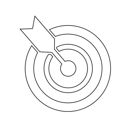 Target icon vector illustration