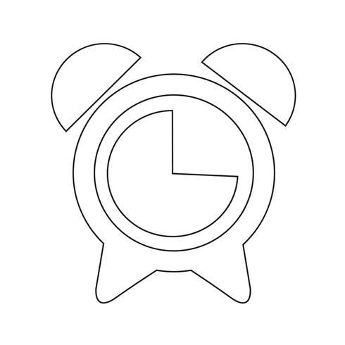 väckarklocka ikon vektor illustration