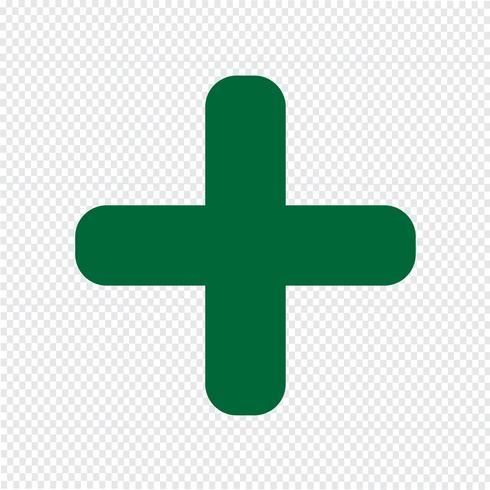 Plus ikon vektor illustration