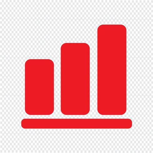 Ícone de gráfico pictograma ilustração vetorial vetor