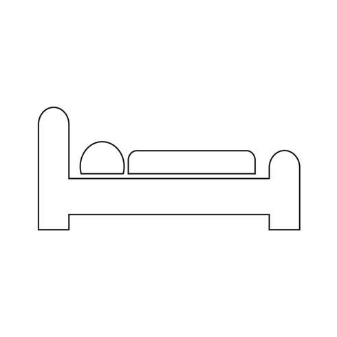 hotel slaap pictogram vectorillustratie