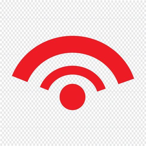 Ilustração em vetor ícone Wi-Fi