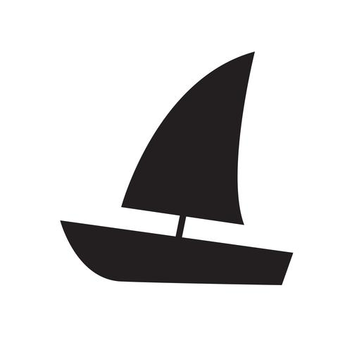 Sailing boat icon vector illustration