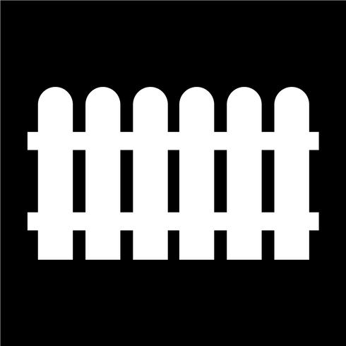 Zaun-Symbol-Vektor-Illustration