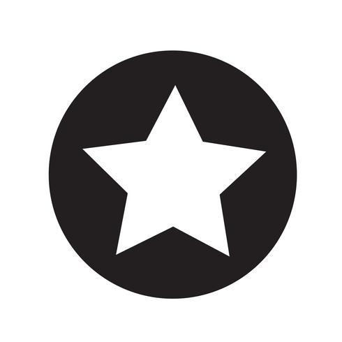icono de estrella ilustración vectorial