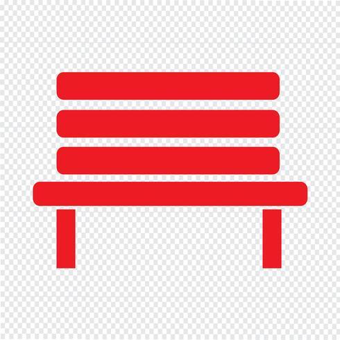 Bench icon vector illustration