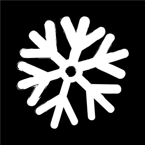 Sneeuwvlok pictogram vectorillustratie vector