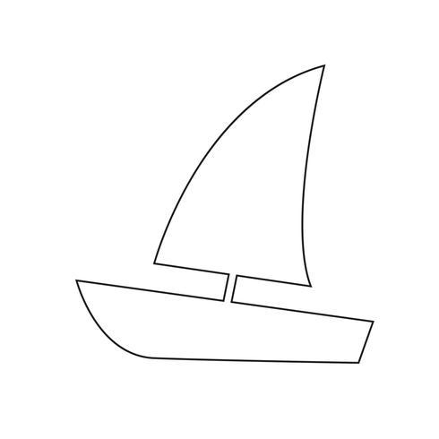 Ilustração em vetor ícone barco à vela