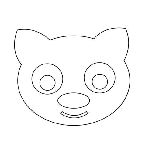 Ilustración de vector de icono de gato lindo