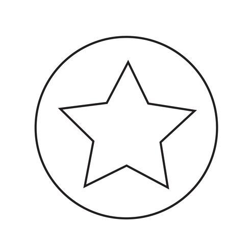 ícone de estrela ilustração vetorial
