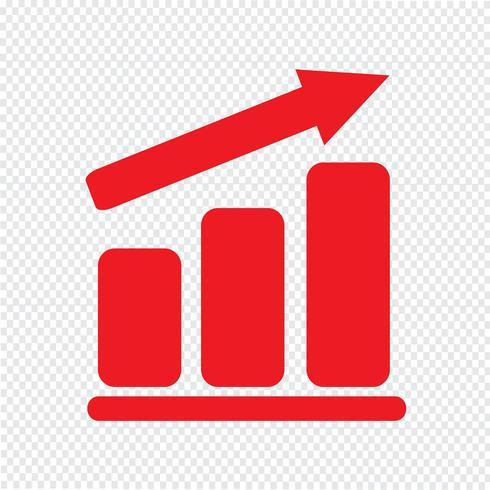 Pictograph graph icon Vector Illustration
