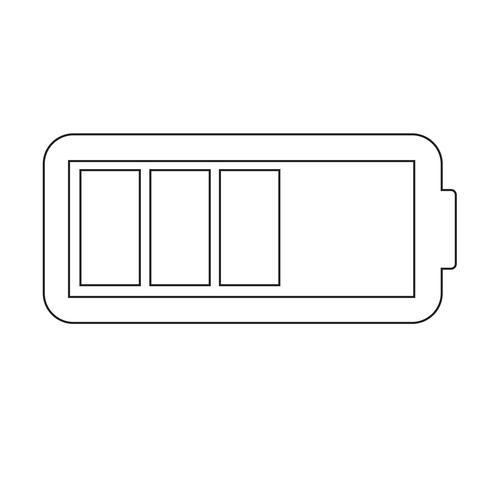 Icono de la batería ilustración vectorial