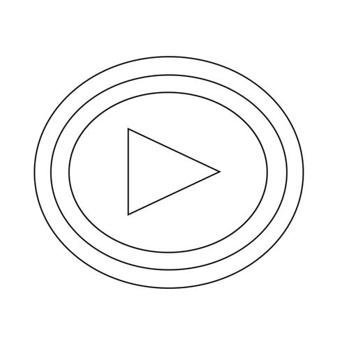 Speel pictogram vectorillustratie