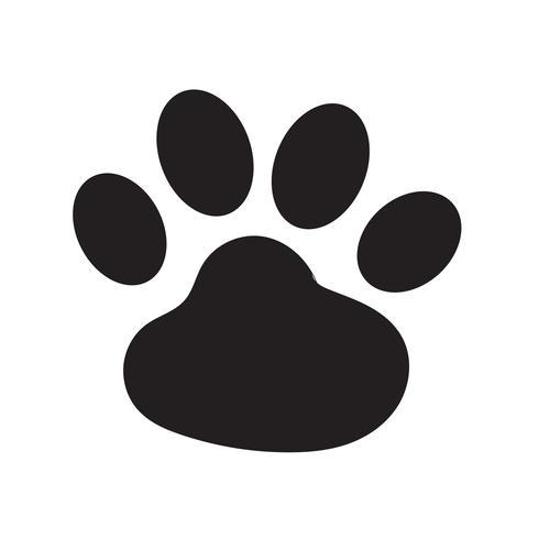 djur fotavtryck ikon vektor illustration
