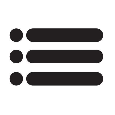 Ilustración de vector de icono de lista con viñetas