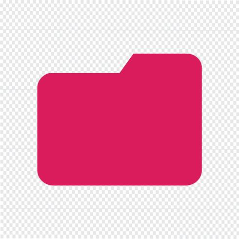 Folder pictogram vectorillustratie