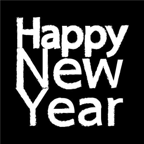 Feliz año nuevo icono vector illustration