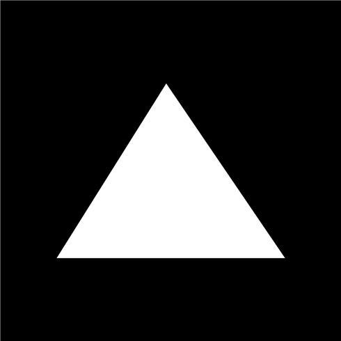 Icono de triángulo ilustración vectorial
