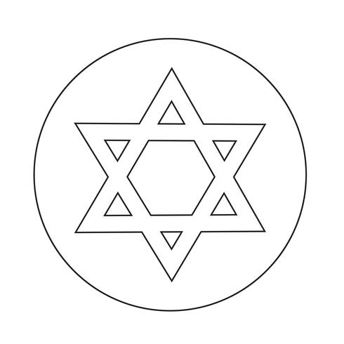 Star David icon vector