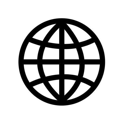 Globe terrestre icône illustration vectorielle vecteur