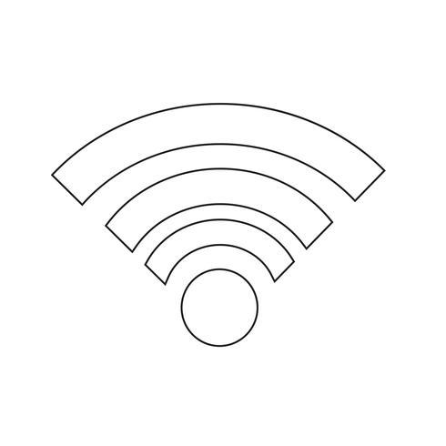 Illustrazione di vettore dell'icona di Wi fi