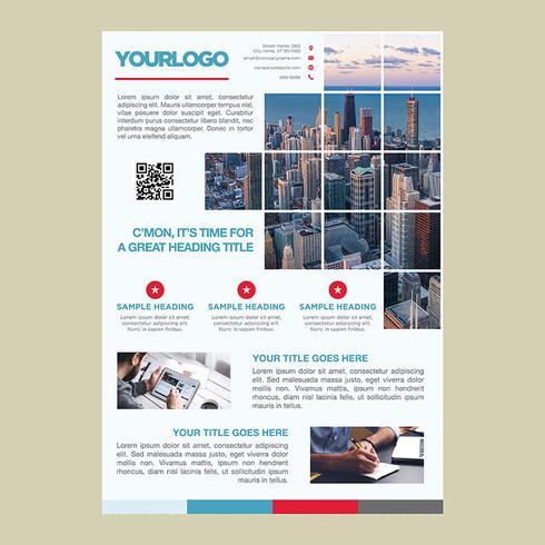 Modello di brochure aziendale professionale vettore