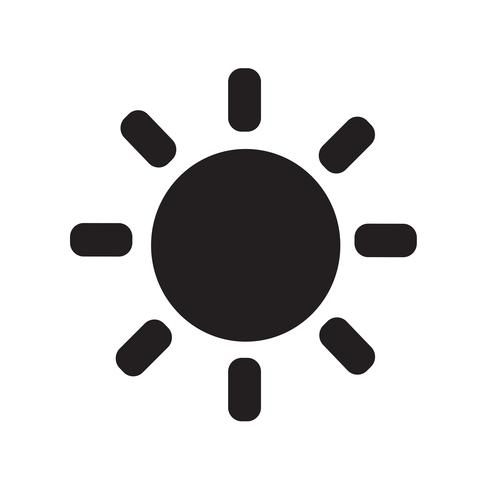 Ilustración de vector de icono de sol