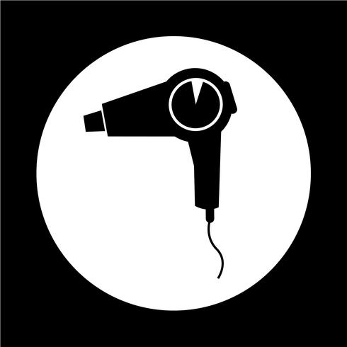icône de sèche-cheveux vecteur