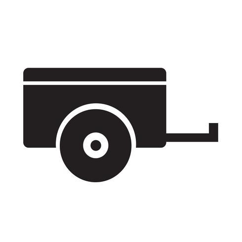 Illustrazione di vettore dell'icona del rimorchio dell'automobile
