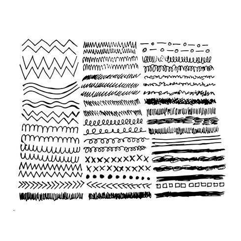 Linea di schizzo di doodle disegnato a mano