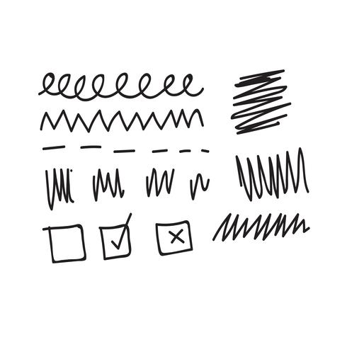 Doodle illustration vectorielle de ligne icône vecteur
