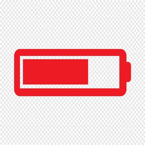 Batterie-Symbol Vektor-Illustration