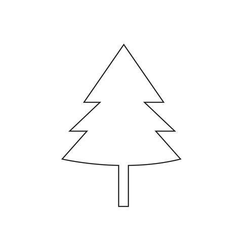 Illustrazione di vettore dell'icona dell'albero di Natale