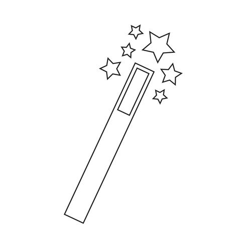 Ilustración de vector de icono de varita mágica