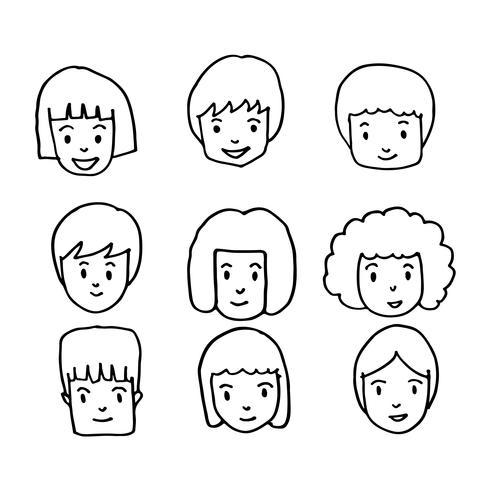Mensen worden geconfronteerd met pictogram hand tekenen