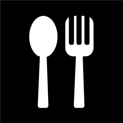 Spoon and Fork icon Vector Illustration