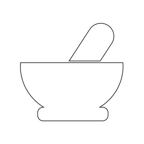 Mortar pestle icon vector illustration