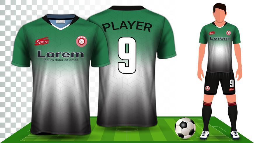 Fotbollströja, Sportskjorta eller Fotbollssats Uniform Presentation Mockup Mall.