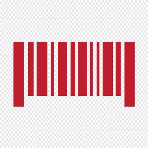 Barcode icon vector illustration