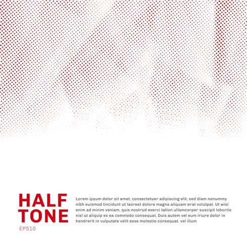 Modello di semitono rosso astratto low poly alla moda su sfondo bianco con spazio di copia. È possibile utilizzare per sito Web, brochure, flyer, copertina, banner, ecc.