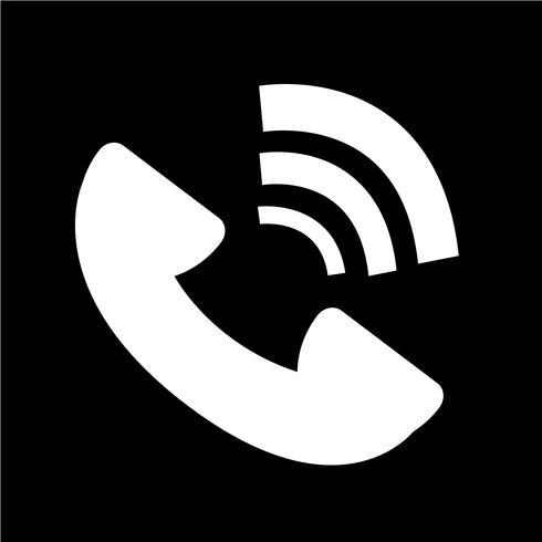 Illustration vectorielle de téléphone symbole icône vecteur