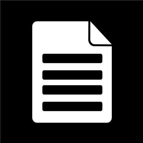 Ilustración de vector de icono de archivo