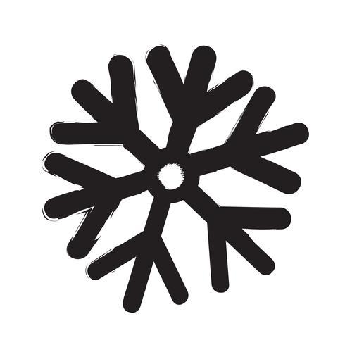 Snowflake icon vector illustration