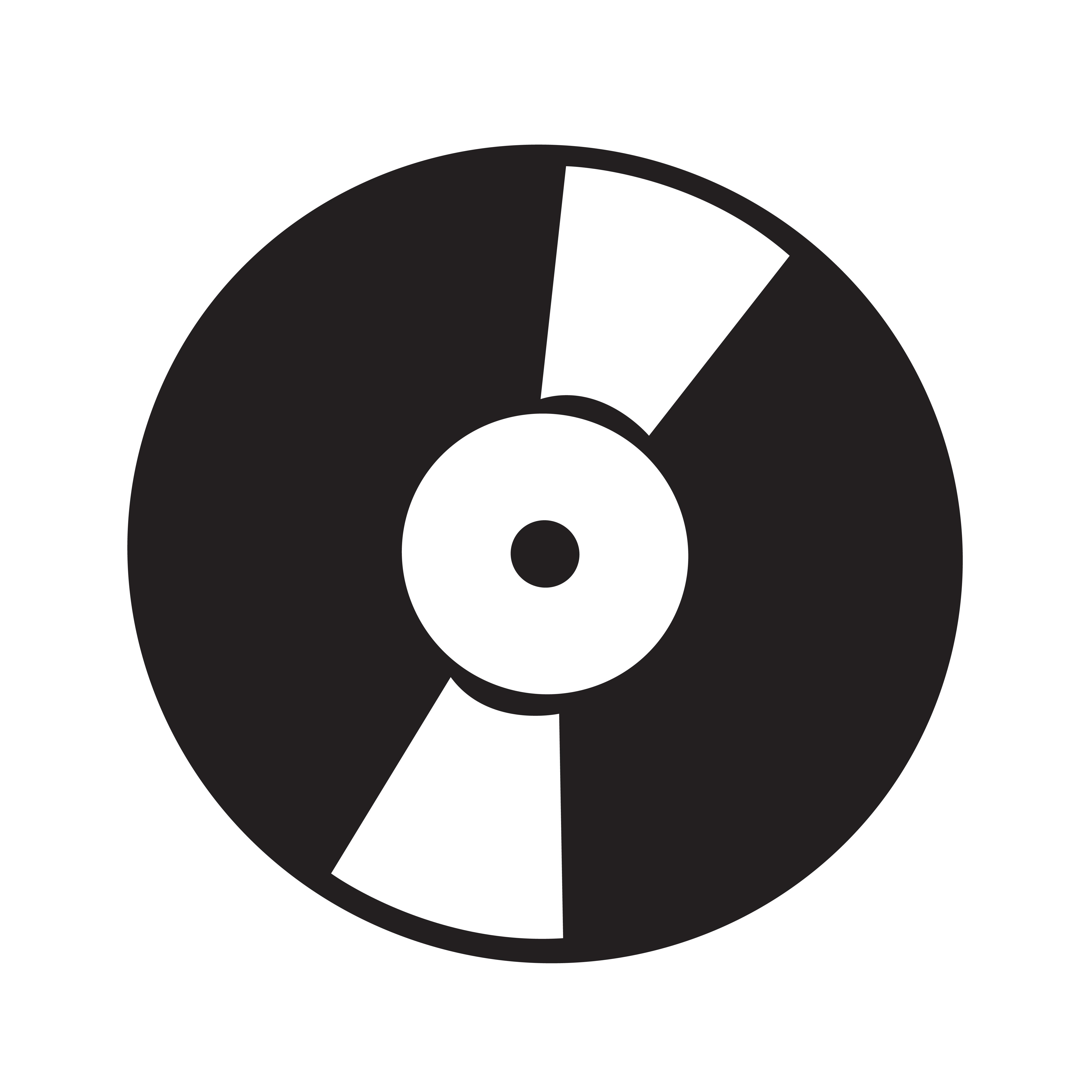 Retro Vinyl Record Icon Vector Illustration Download