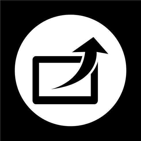 Icône de partage vecteur