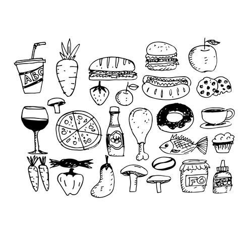 icono comida mano dibujar