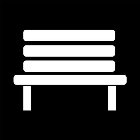 Illustrazione vettoriale di icona di panca
