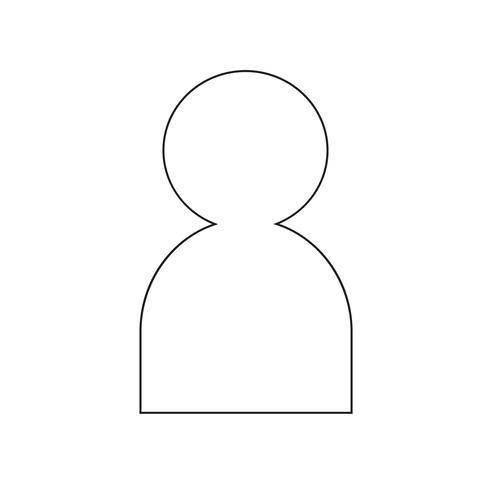 Ilustración de vector de icono de personas