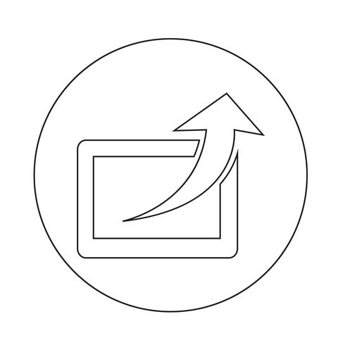 Condividi icona vettore